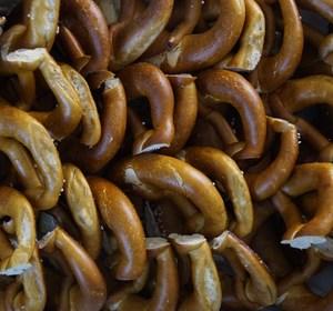 piles of pretzels