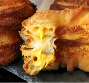 Grilled cheese crescent donuts