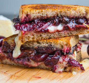 cherry chocolate grilled cheese sandwich
