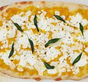 Butternut squash soup pizza