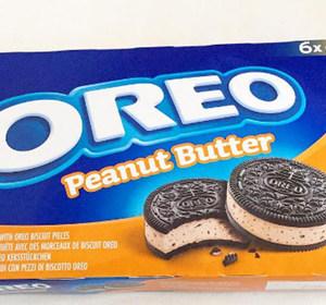 Oreo Peanut Butter Ice Cream Sandwiches