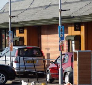 UK McDonald's drive-thru windows