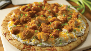 "Tennessee ""Coin Toss"" Fried Chicken Pizza"