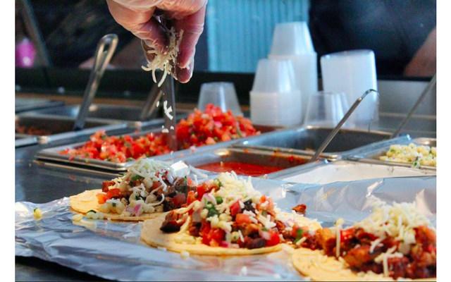 Three Chipotle tacos
