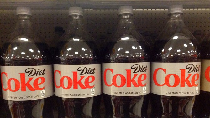 Diet Coke bottles