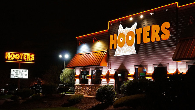 Hooters storefront