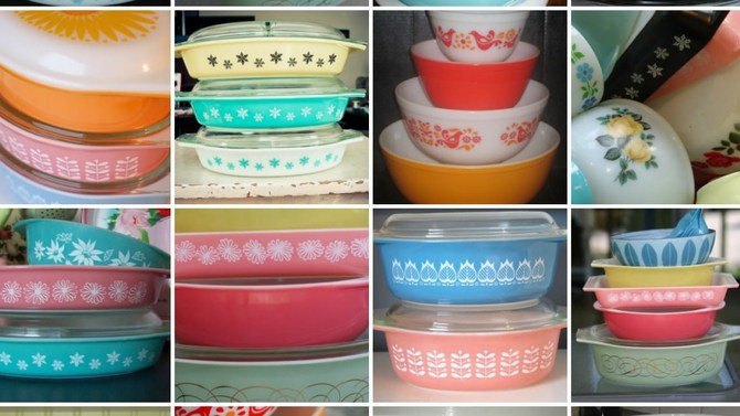 Assorted Pyrex
