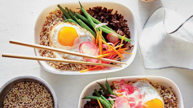 quinoa bibimbap bowls