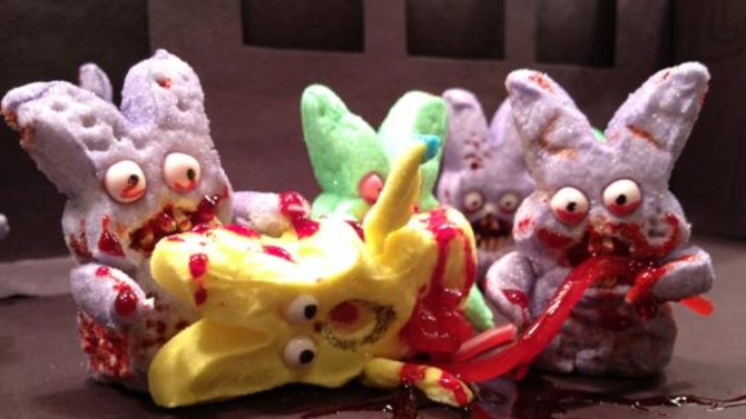 A gruesome Peeps murder scene from the Washington Post contest