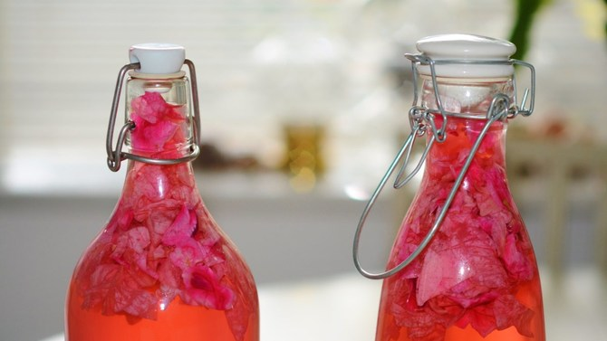 2 infused drinks in bottles