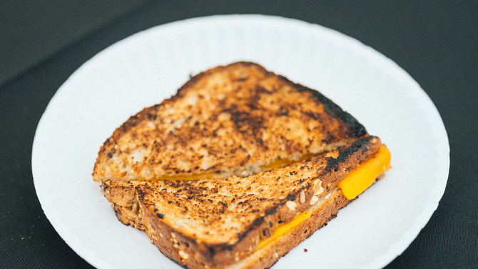 Mario Batali's Grilled Cheese Hack Is Oh So Perfect (Photo)